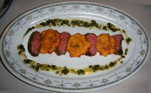 Churrasco with Chimichurri and Tostones