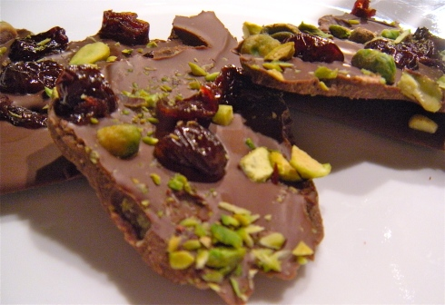 Pistachio Sour Cherry Bark