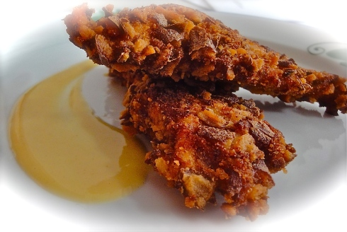 Pretzel-crusted fried chicken
