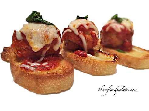 Chicken Parmesan Crostini